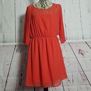 Everly reddish Orange dress